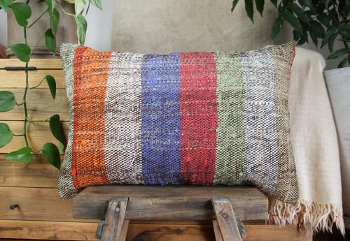 Handwoven kilim cover rectangle (40*60cm) #KR256