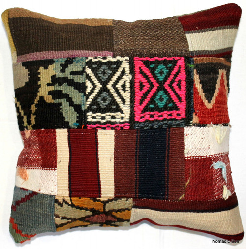 Vintage kilim cover - small patchwork #20