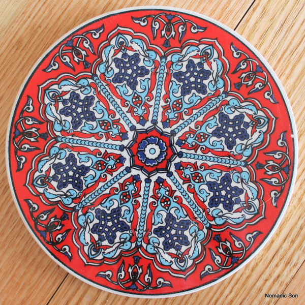 Round Trivet - #24 - Lattice (4 colour options)
