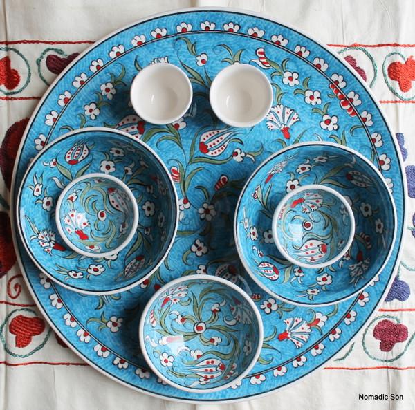 Soloman's Platter Set in Light Blue