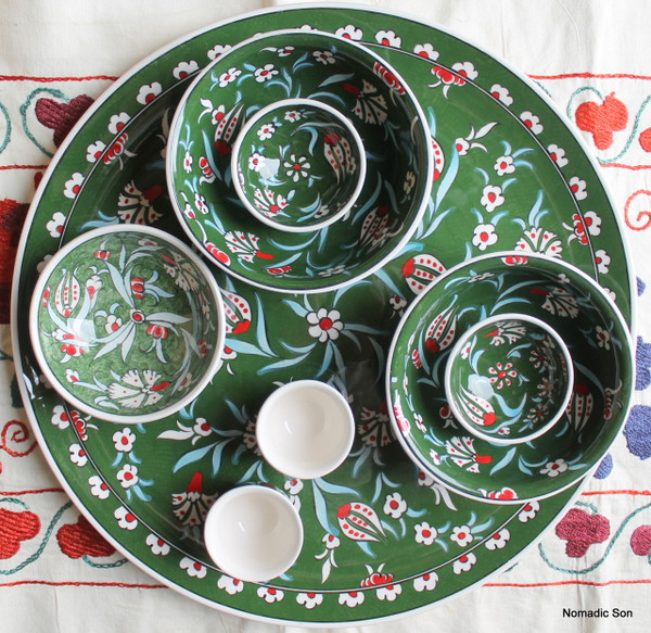 Soloman's Platter Set in Green
