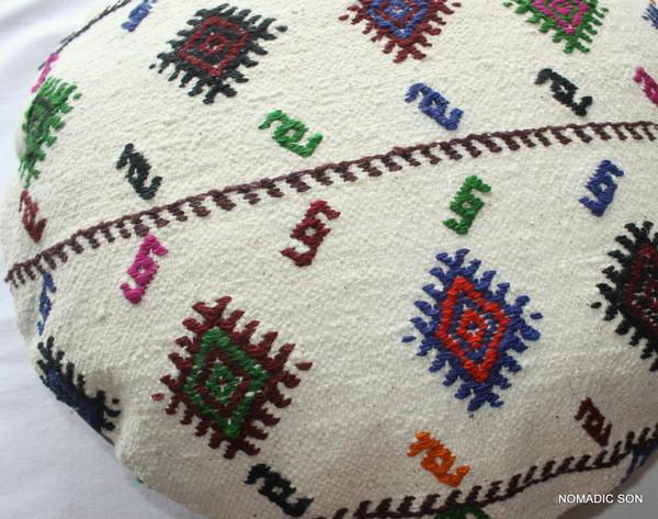 Kilim Cushion Cover Round (50cm) #RL2