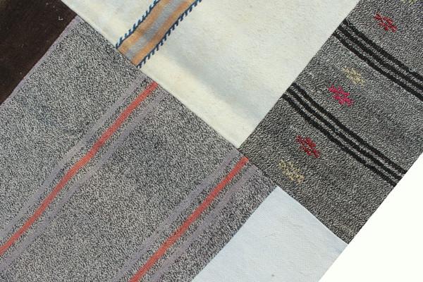 Natural Patchwork Kilim (#J224) 203*296cm