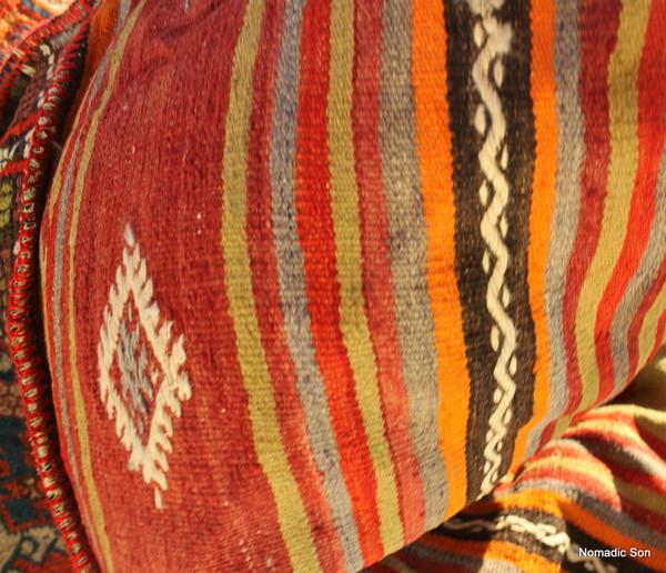 Kilim Bean Bag #15 (different sides)