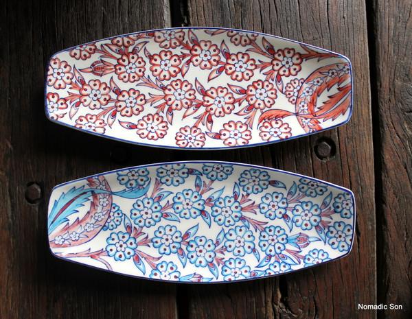 Porcelain Floral Serving Platter