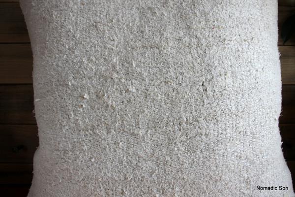 Vintage Hemp kilim cover - medium (50*50cm) - #FF366