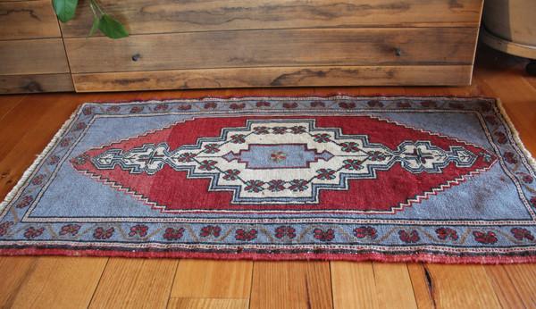 Vintage Small Turkish Mat  (#M245) 54*97cm