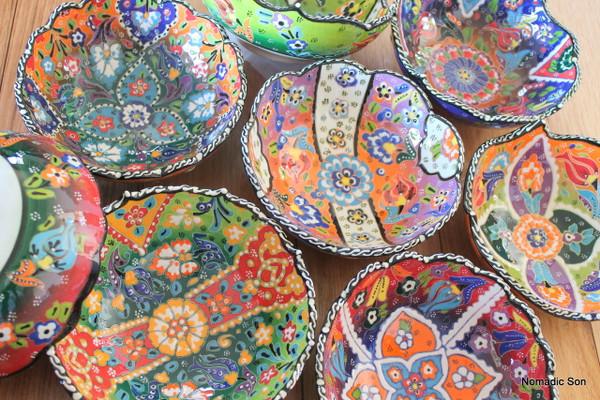 16cm Wavy Kabartma Bowls -hand painted in Turkey