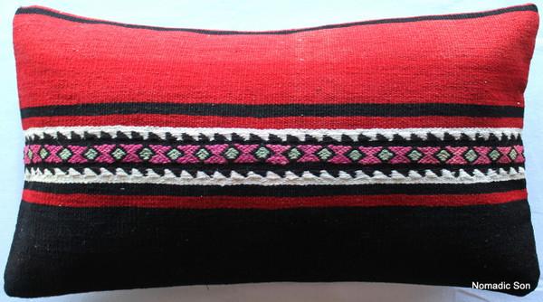 Vintage kilim cover - medium rectangle (35*60cm) #MR3