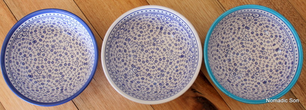 16cm Ceramic bowl, handmade and hand painted in Turkey. Food safe.  Hand wash.