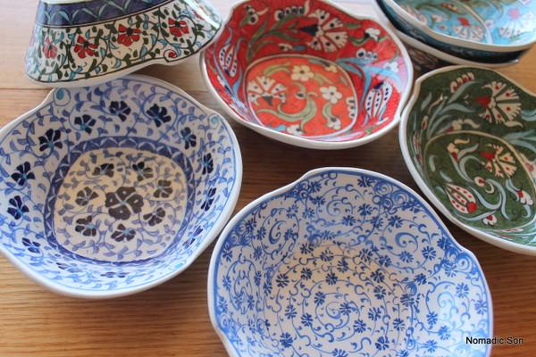Small Bektasi Wave Bowl.  Handmade and hand painted in Turkey.