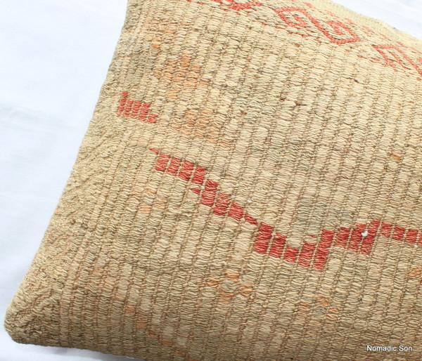 Vintage kilim cover rectangle (40*80cm) #LR2