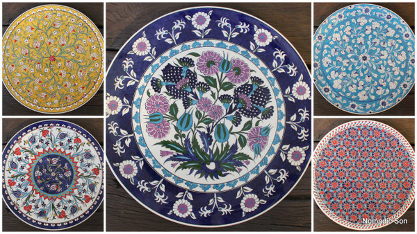 Large Platter Plate - 40cm - handmade and hand painted in Turkey