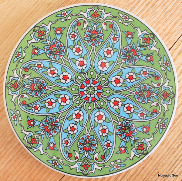 Round Trivet - #26 - Paisley (4 colour option)