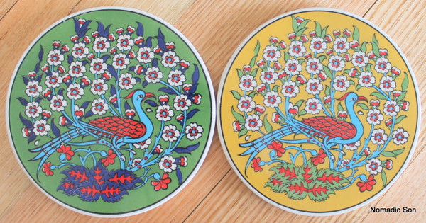 Round Trivet - #27 - Bird with Tree of Life (2 colour option)