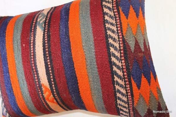 Vintage kilim cover rectangle (35*50cm) #TR21