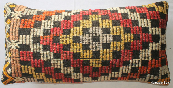 Vintage kilim cover rectangle (40*80cm) #LR14