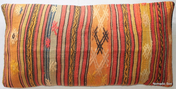 Vintage kilim cover rectangle (40*80cm) #LR15