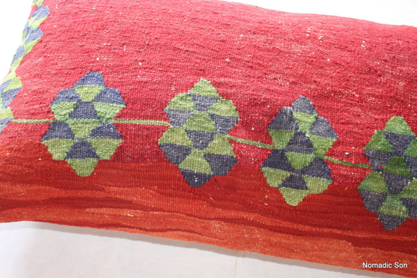 Vintage kilim cover rectangle (40*80cm) #LR30
