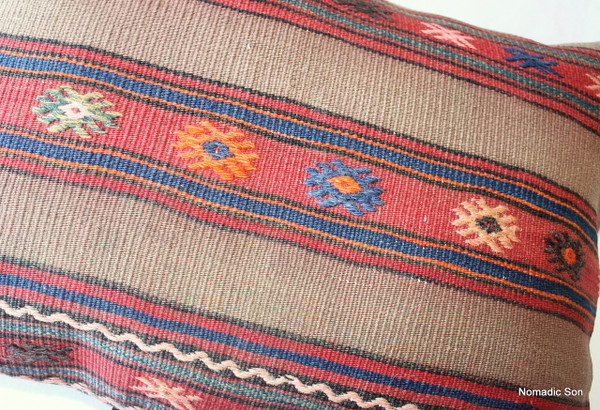 Vintage kilim cover rectangle (40*60cm) #DC10
