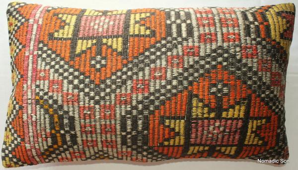 Vintage kilim cover rectangle (40*70cm) #47-2