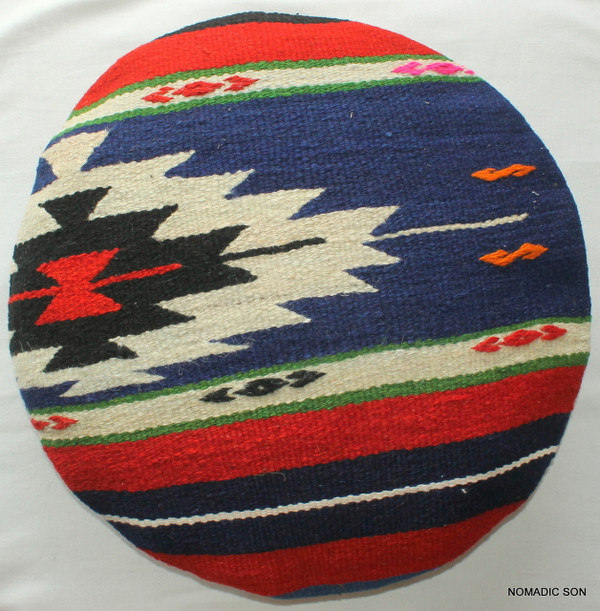 Kilim Cushion Cover Round (50cm) #RL3