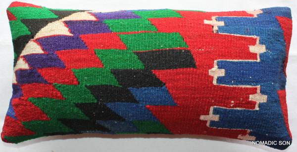 Vintage kilim cover - quarter rectangle (25*50cm) #QR28
