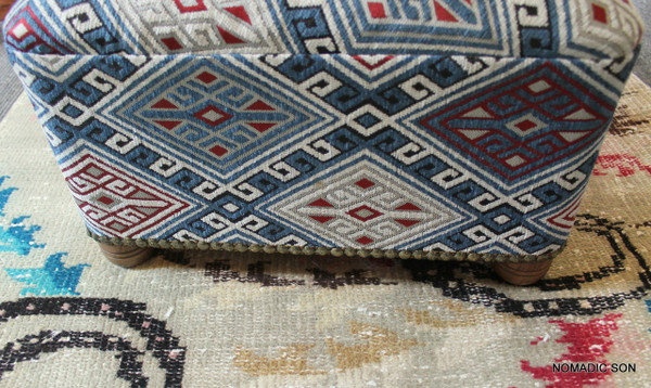 'Baby Blues' Triangular Foot Stool