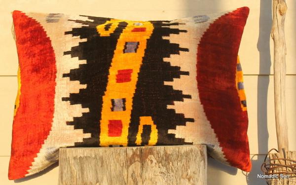 Silk Ikat cushion #47 (40*50cm)