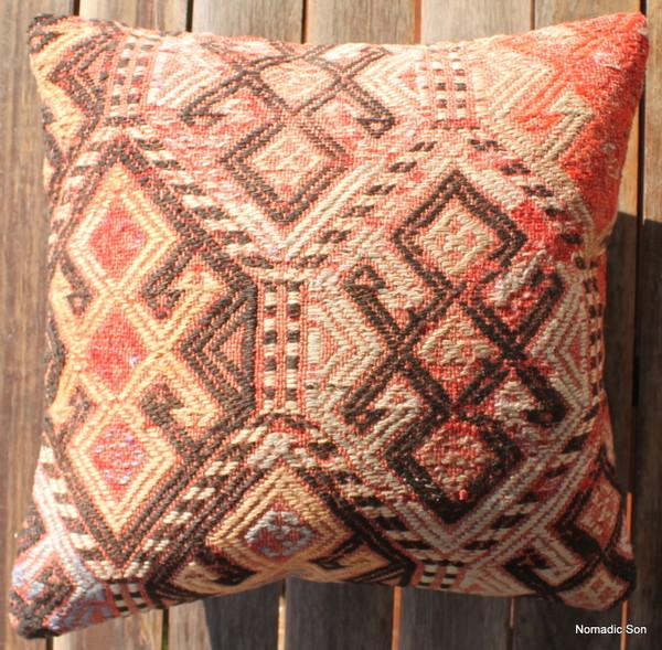 Vintage kilim cover - small (40*40cm) #1126