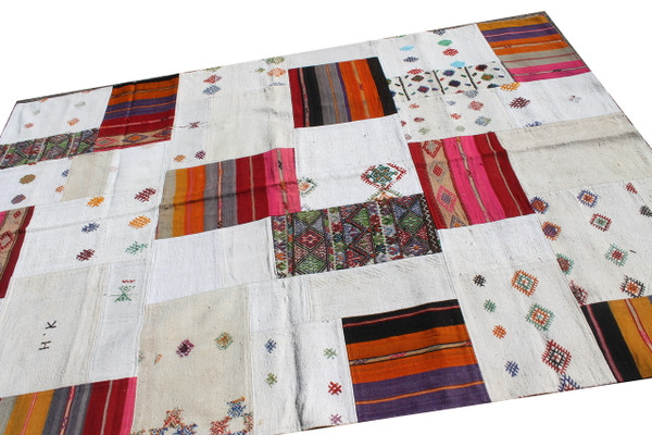 Natural Patchwork Kilim (#J217) 204*295cm