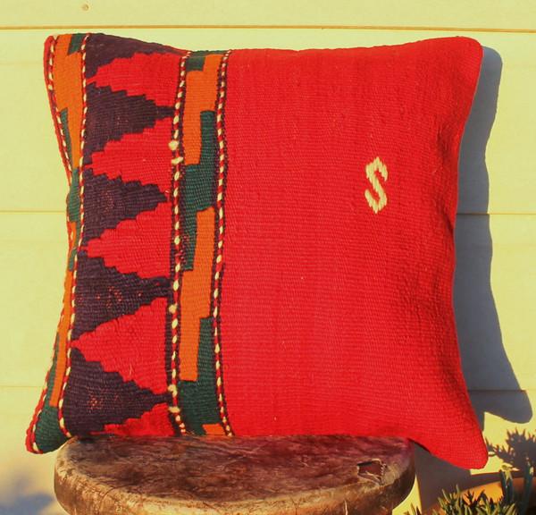 Vintage kilim cover - small (40*40cm) #235