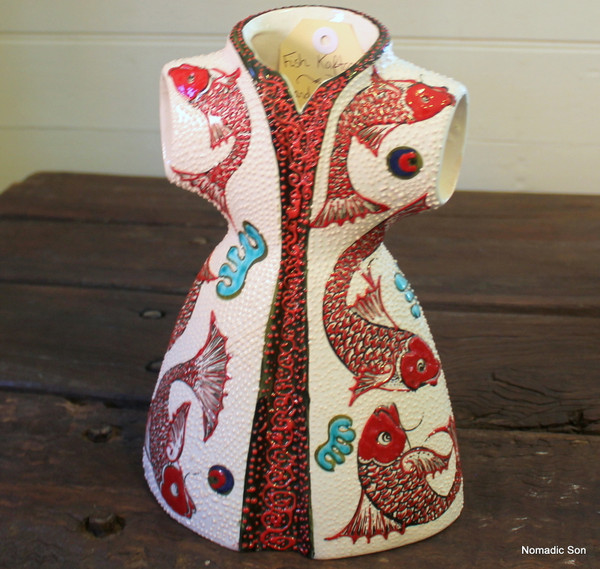 'Fish' ceramic kaftan