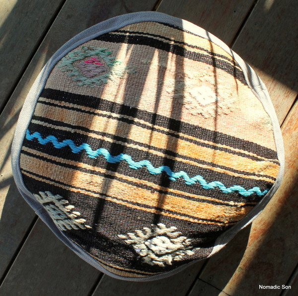 Seat Pad / Chair Cushion / Round Gusseted Cover #SC4
