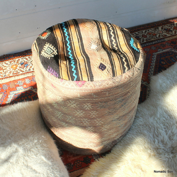 Kilim Ottoman (50*50*50cm) #C7