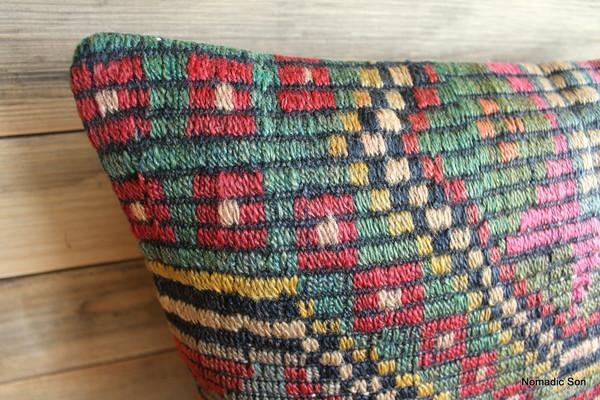Vintage kilim cover - small (40*40cm) #258-