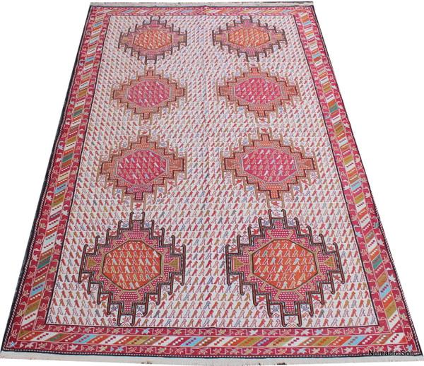 Pure silk soumak (#0111) 122*192cm