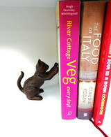 Cat Bookends - Heavy Duty Cast Iron - Elegant Vintage Look by Pristine