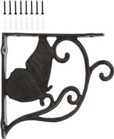 7.5 Inch Decorative Cast Iron Butterfly Shelf Bracket