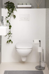 Freestanding Toilet Roll Holder with Toilet Brush - Stylish & Practical Design by Pristine (Chrome with Toilet Brush)
