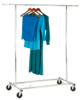 Premium Clothing Rail with Extension Bars - Adjustable Height, Heavy Duty Wheels for Easy Movement