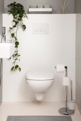 Freestanding Toilet Roll Holder with Brush