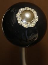 Vintage Pearl Brooch Shift Knob