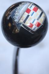 Vintage Cadillac Shield Logo Shift Knob Solid Black