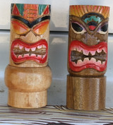 Hand Carved Tall Wooden Tiki God Shift Knob