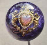 Vintage CUPID Heart Purple Pearl Shift Knob