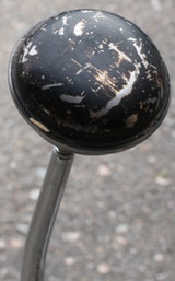 Vintage Black Chipped Paint Door Knobs