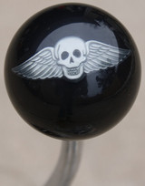 Pewter Winged Skull Shift Knob