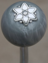 Grey Pearly Star Shift Knob