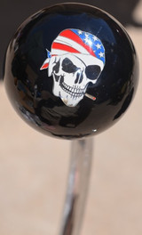 USA Biker Skull Shift Knob